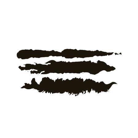 horizontal lines and waves creative design with brush stroke silhouette style vector illustration design Ilustração Vetorial