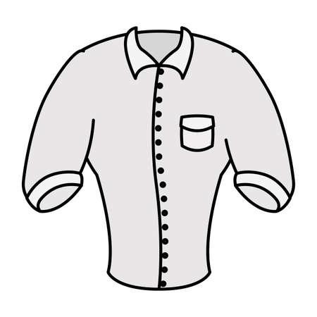 elegant shirt masculine wear icon vector illustration design