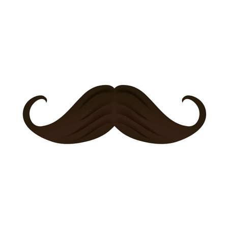 Mustache design, Gentleman man style face retro facial and fashion theme Vector illustration Vectores