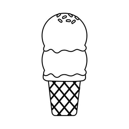 sweet ice cream on white background vector illustration Ilustrace