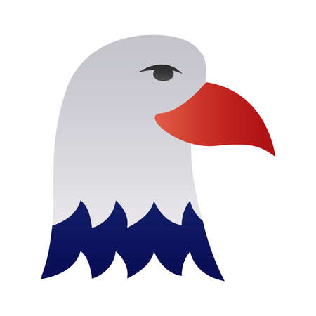 eagle bald usa degraded style vector illustration design