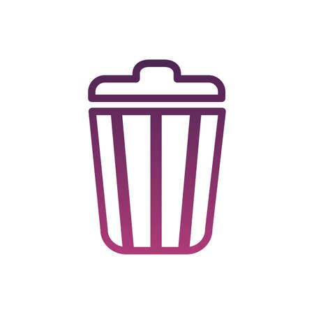 garbage bin por line style icon vector illustration design Vektorgrafik