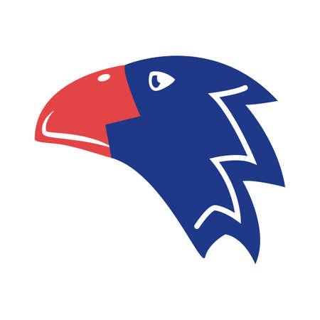 eagle bald silhouette style icon vector illustration design