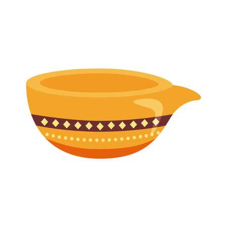 happy raksha bandhan celebration with ceramic jar flat style vector illustration design