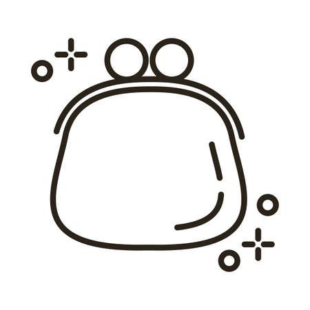 purse female line style icon vector illustration design
