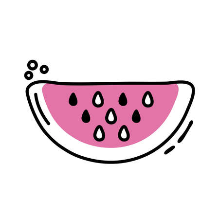 watermelon fresh fruit line and fill icon vector illustration design