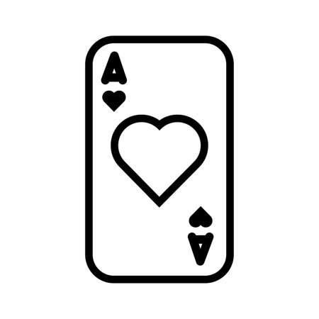 casino poker card with heart vector illustration design