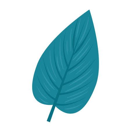 tropical nature leaf on white background vector illustration design