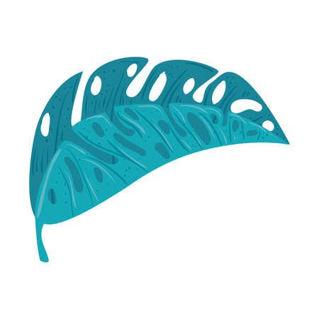 tropical nature leave on white background vector illustration design