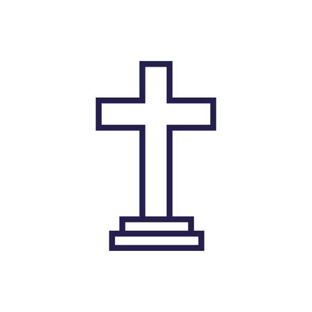wooden cross religious isolated icon vector illustration design 向量圖像