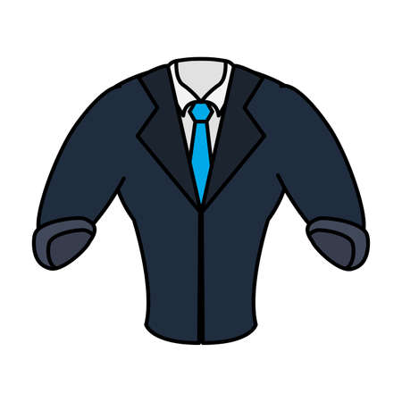 elegant shirt masculine with necktie and blazer vector illustration design