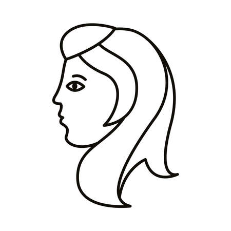 virgo zodiac sign line style icon vector illustration design