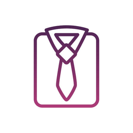 elegant neck tie accessory line style icon vector illustration design