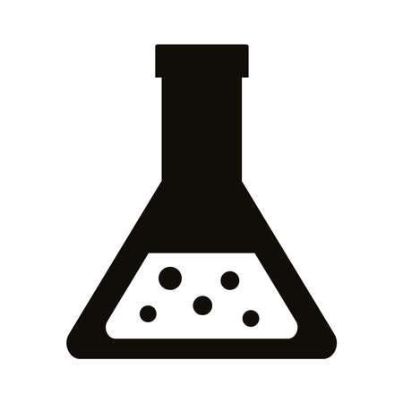 tube test laboratory silhouette style icon vector illustration design Ilustración de vector