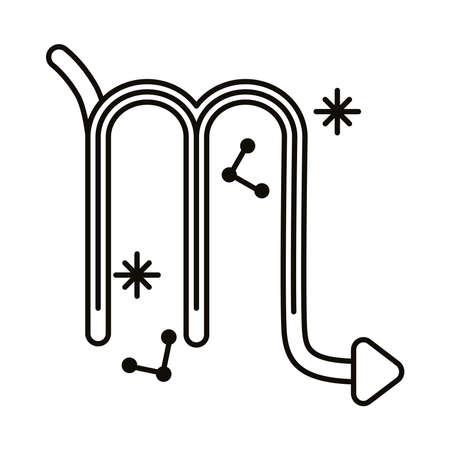 scorpio zodiac sign symbol line style icon vector illustration design