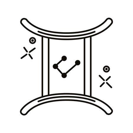 gemini zodiac sign symbol line style icon vector illustration design