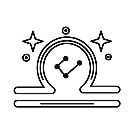 libra zodiac sign symbol line style icon vector illustration design