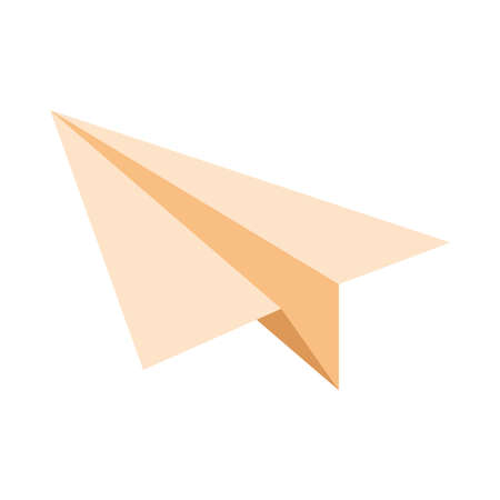 airplane paper flying isolated icon vector illustration design