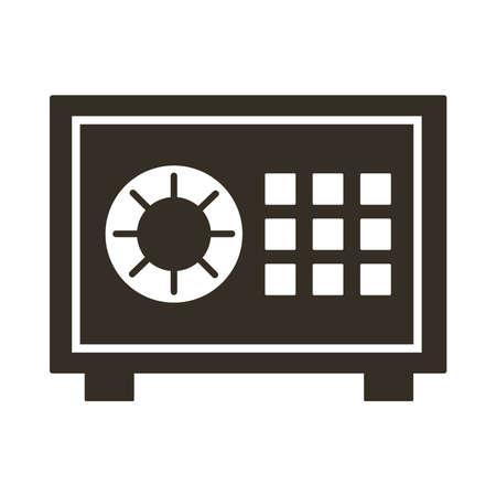 safe box silhouette style icon vector illustration design Stock Illustratie