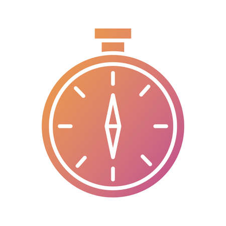 chronometer timer silhouette style icon vector illustration design