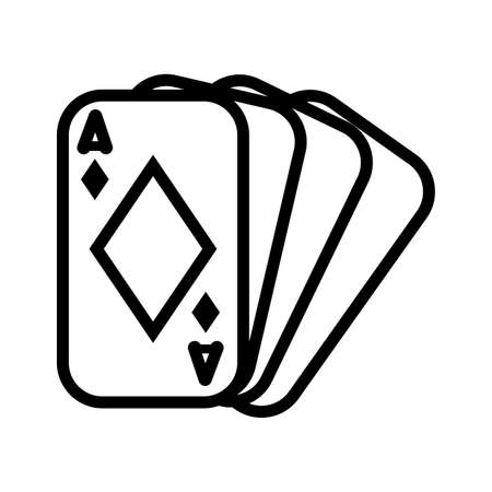 casino poker cards with diamonds vector illustration design