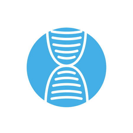 dna medical symbol block icon vector illustration design
