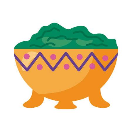 guacamole avocado sauce detailed style icon vector illustration design