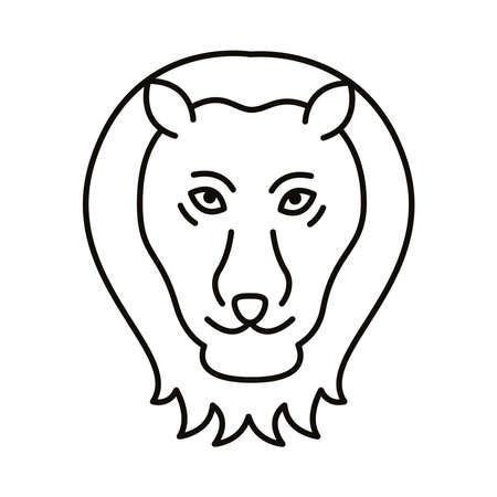 leo zodiac sign line style icon vector illustration design