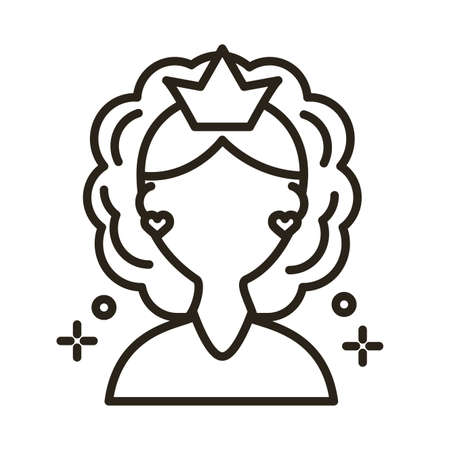 mother day mom character line style icon vector illustration design Stock Illustratie