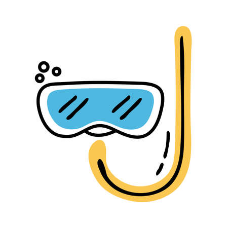 snorkel accessory line and fill style icon vector illustration design