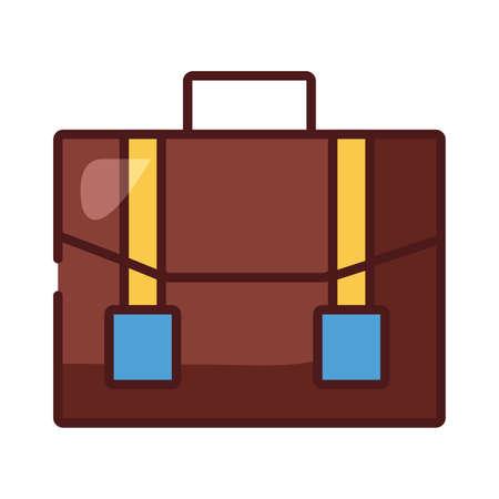 portfolio briefcase line and fill style icon vector illustration design