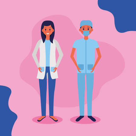 medical people staff female doctor vector illustration Stock Illustratie