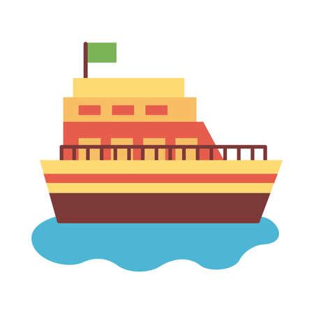 ship boat flat style icon vector illustration design 일러스트