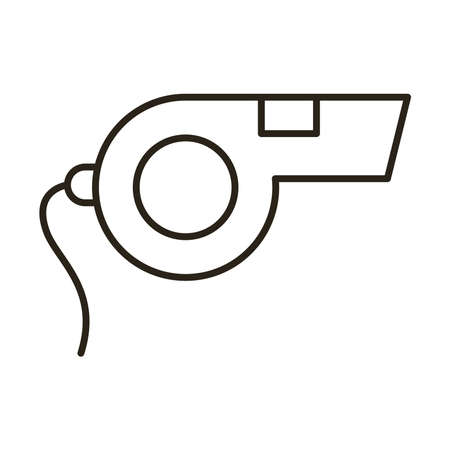whistle refferi line style icon vector illustration design 일러스트
