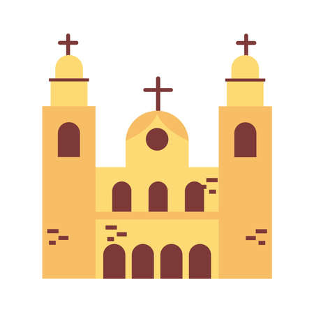 candelaria church brazil monument flat style icon vector illustration design