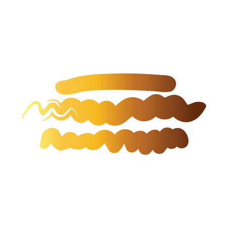 horizontal lines and waves creative design with brush stroke degradient style vector illustration design 向量圖像