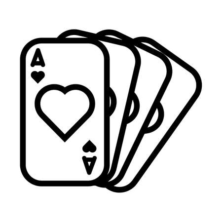 casino poker cards with hearts vector illustration design