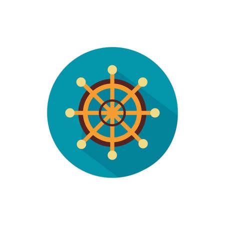 helm of ship block style icon vector illustration design