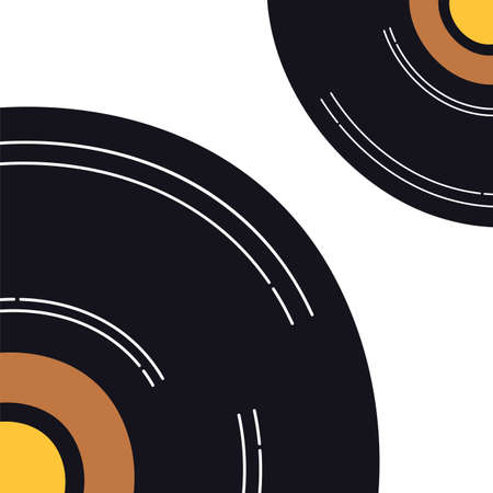 music vinyl disk record isolated icon vector illustration