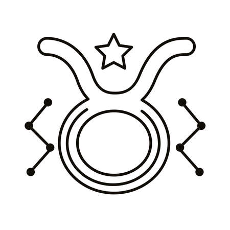 taurus zodiac sign symbol line style icon vector illustration design