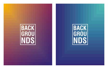two vibrant colors background icon vector illustration design Vectores