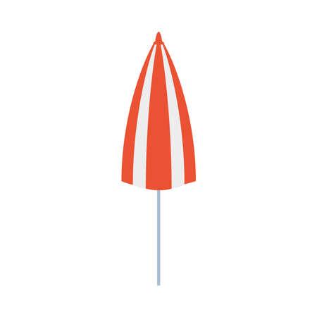 summer beach umbrella accessory icon vector illustration design