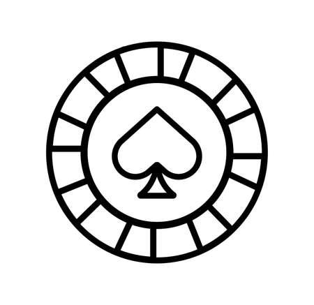 casino chip with spade isolated icon vector illustration design