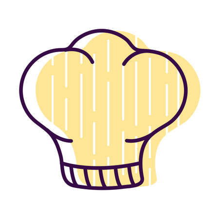 chefs hat line and fill style icon design, Cook kitchen eat and food theme Vector illustration