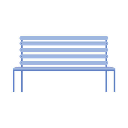 park chair forniture isolated icon vector illustration design