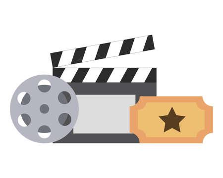 film set objects icon vector illustration design Vecteurs