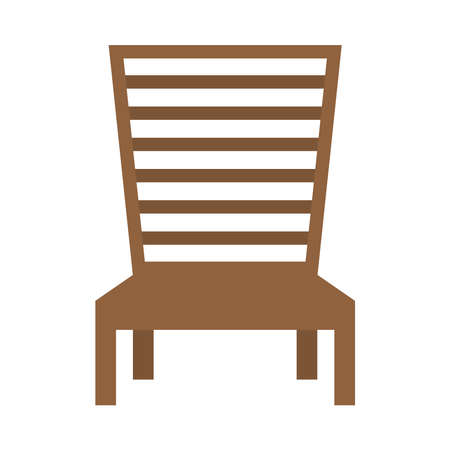 wooden beach chair isolated icon vector illustration design