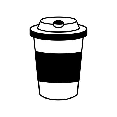 disposable coffee cup on white background vector illustration