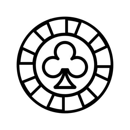 casino chip with clover isolated icon vector illustration design Stock Illustratie