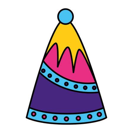 party hat decoration on white background vector illustration Ilustrace